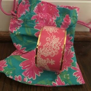 Pink Lilly Pulitzer Lion bangle with original bag